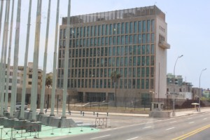 The site of the US Embassy, which just opened today!