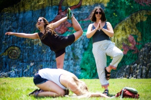 Doing yoga with some friends in Viñales last weekend