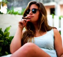 """Enjoying a cigar because you know, """"When in Cuba"""""""